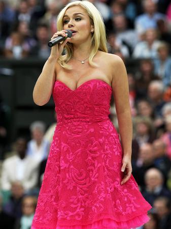 Katherine Jenkins sings at Wimbledon