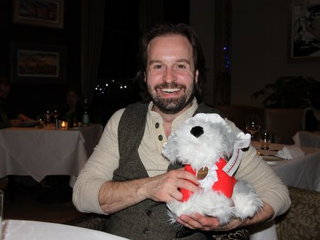 Alfie was presented with Bach the Dog