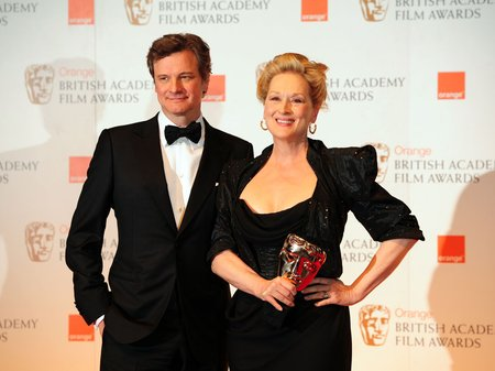 Meryl Streep and Colin Firth at the BAFTAs