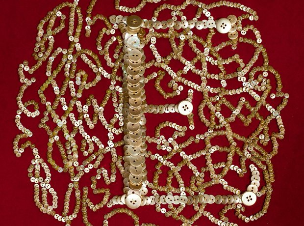 Jubilee Banner of half a million buttons