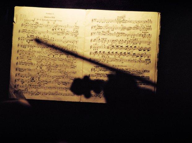 music manuscript violin