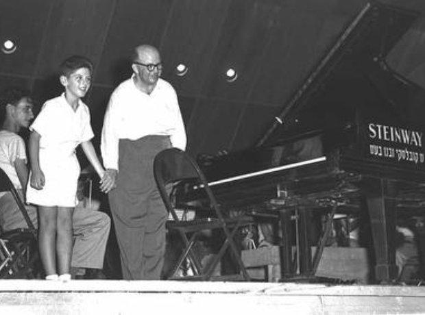 Young Daniel Barenboim performing as a child