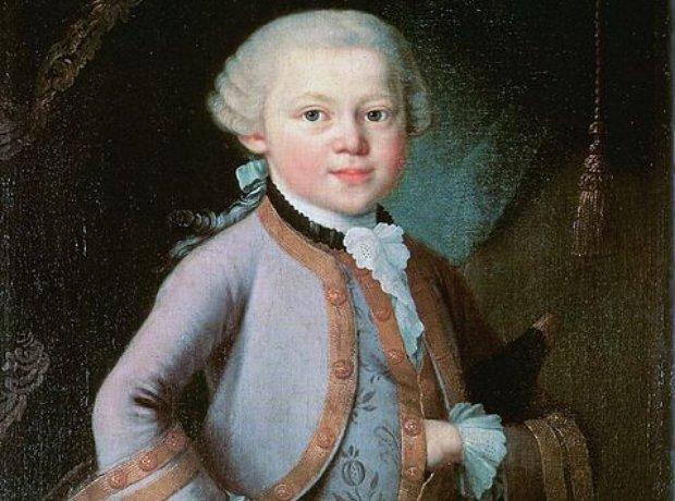 Mozart as a child