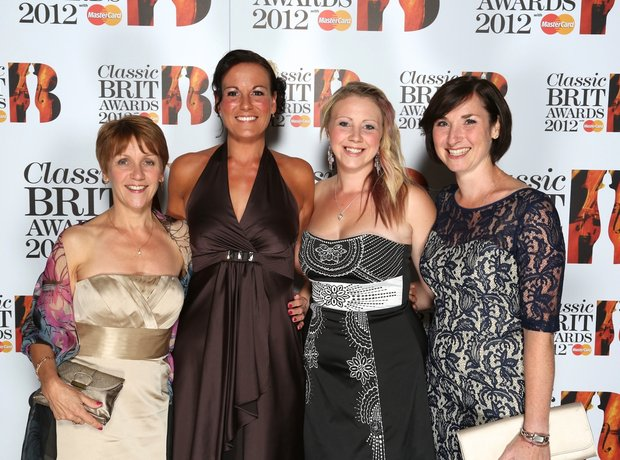 The Military Wives arrive at the Classic BRITS Lau