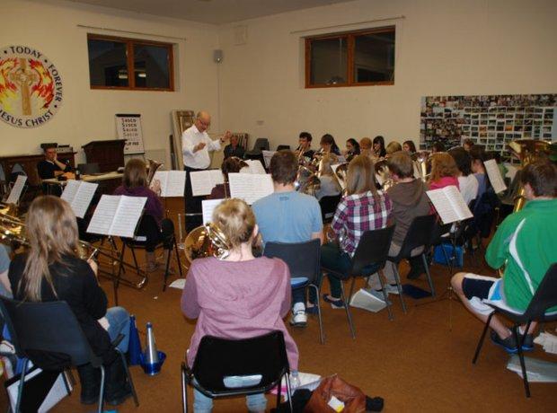 Carnoustie & District Youth Brassband rehearsal