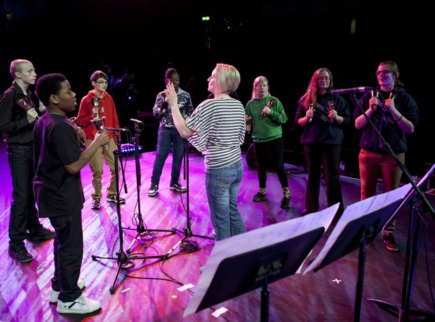 Bell's Angels rehearse at the Royal Albert Hall