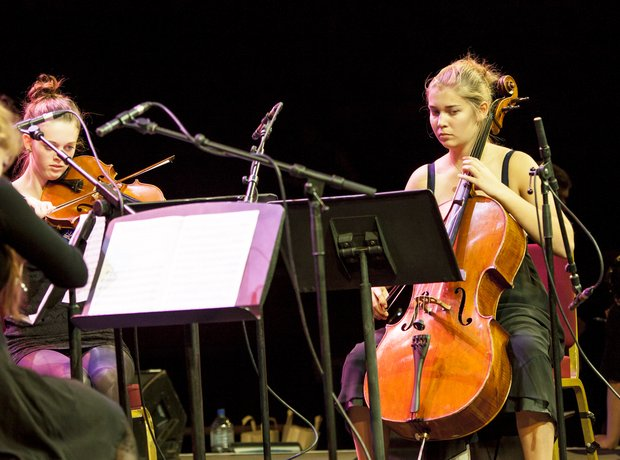 Hampshire String Quartet schools prom rehearsal 2