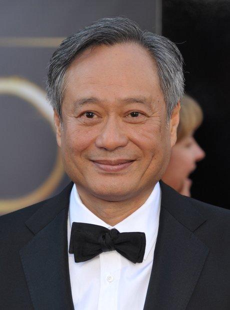 Ang Lee at the Oscars 2013 red carpet