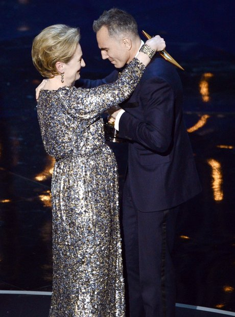 Daniel Day-Lewis and Meryl Streep on stage at the