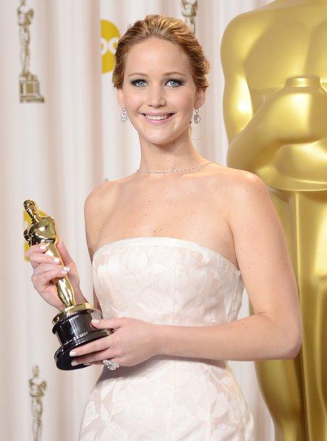 Jennifer Lawrence at the Oscars 2013