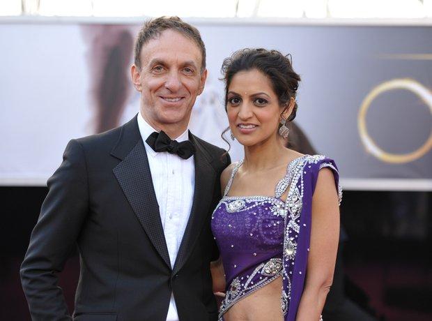 Mychael Danna and Bombay Jayashri at the Oscars 20