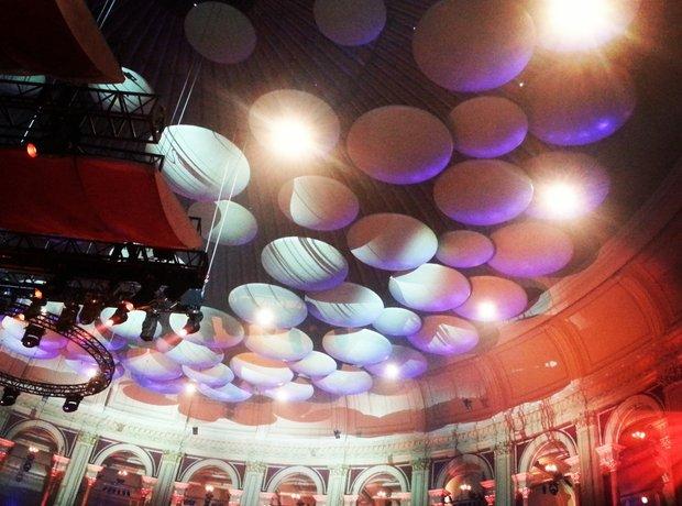 The Royal Albert Hall ceiling