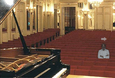 keyboard side concert hall
