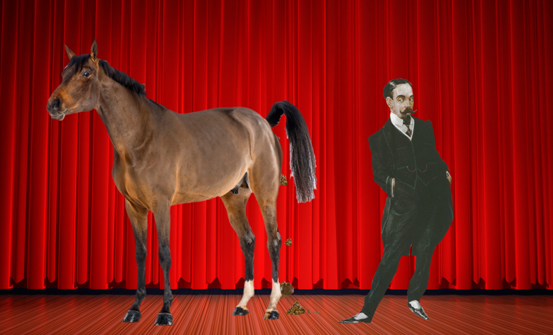 horse on stage with beecham