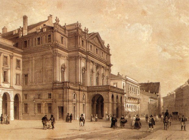 La Scala Milan historic 19th century