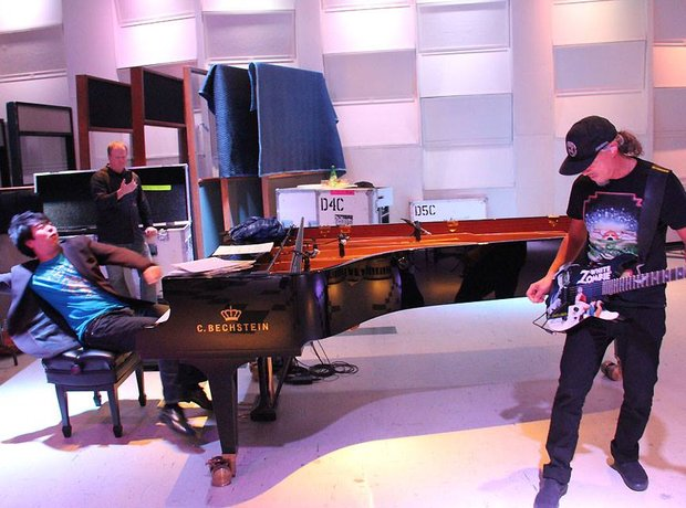 Lang Lang and Metallica rehearse for the Grammy Aw