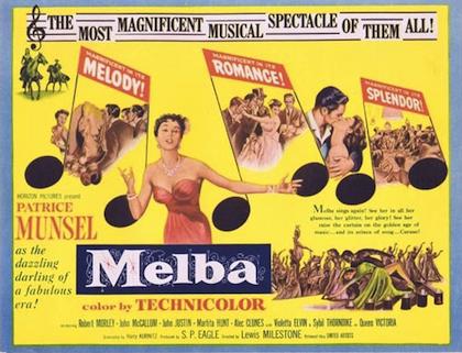 Melba film poster Patrice Munsel Nellie