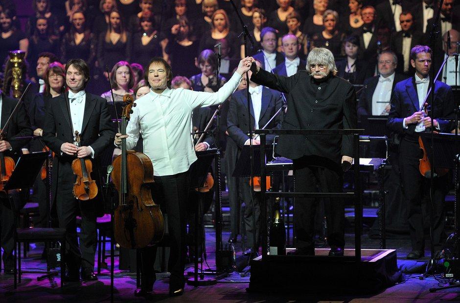 Julian Lloyd Webber and Karl Jenkins at Classic FM