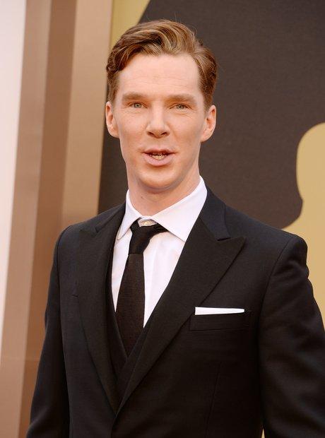 Benedict Cumberbatch at the Oscars 2014 red carpet
