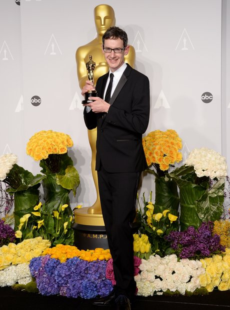 Steven Price at the oscars 2014 backstage