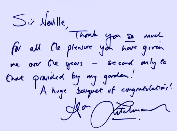 Neville Marriner Birthday greetings