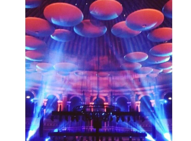 How many mushrooms in the Royal Albert Hall