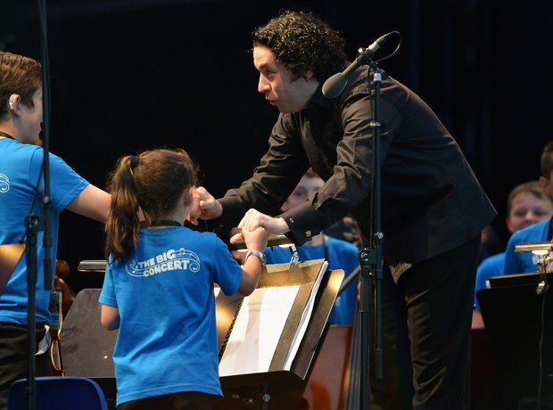 Gustavo Dudamel conductor Big Noise Scotland Stirling