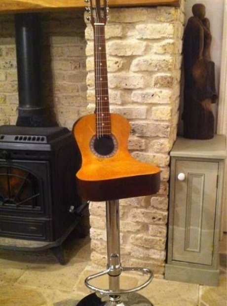 Guitar Chair Incredible Classical Music Decor For Your