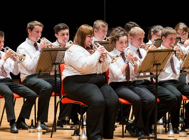Treorchy Comprehensive School Brass Band