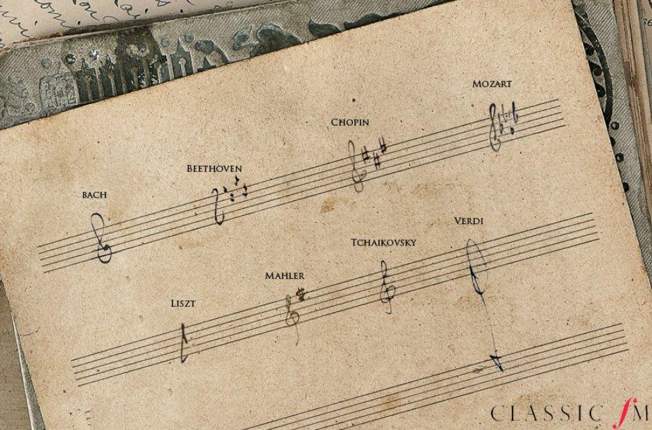 Composer treble clefs