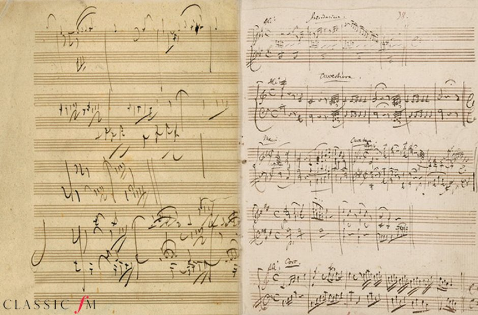 Beethoven and Mozart's sketches