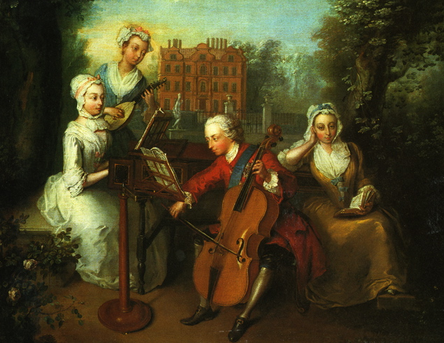 Frederick Prince of Wales sisters music