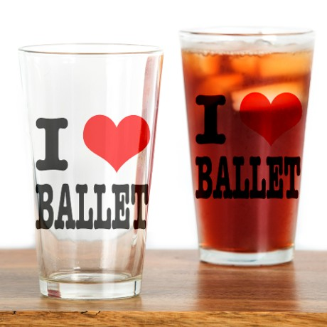 i heart ballet pint glass