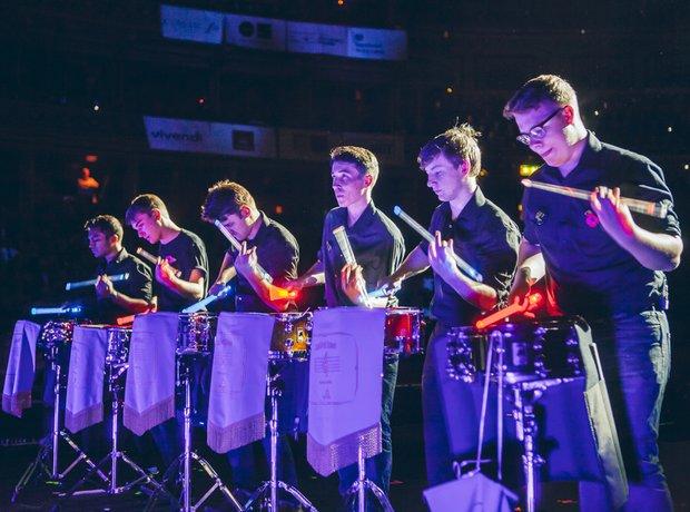Beckfoot Drumline Performance MFY School Proms 201