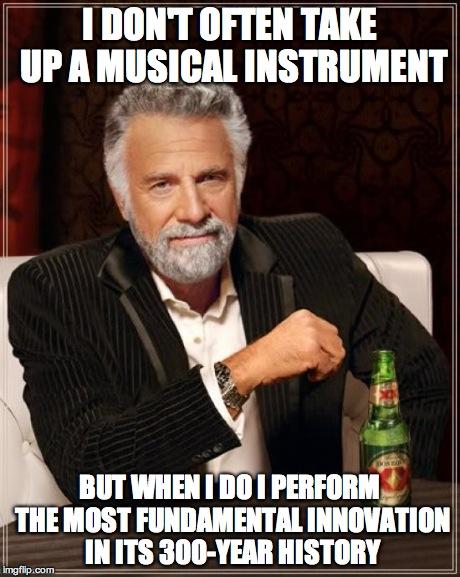 Interesting man meme fastest pianist