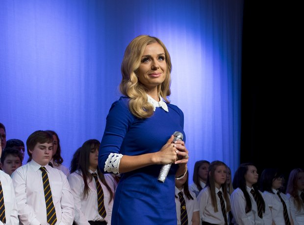 Katherine visits her old school in Neath