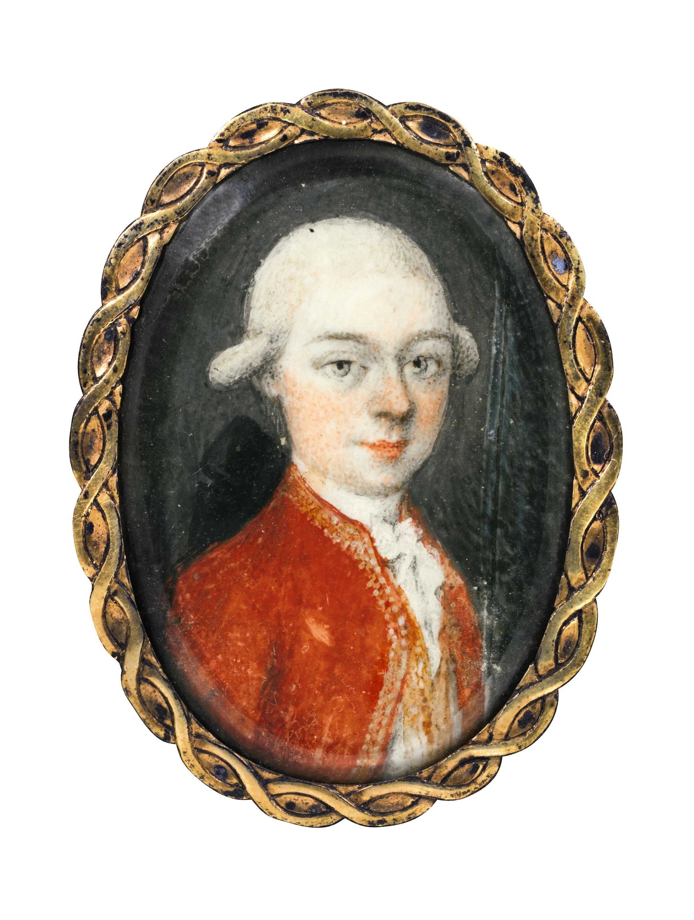 Miniature portrait of Mozart