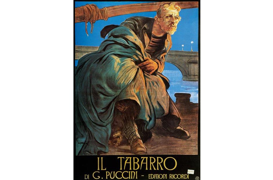 Vintage opera poster Il tabarro