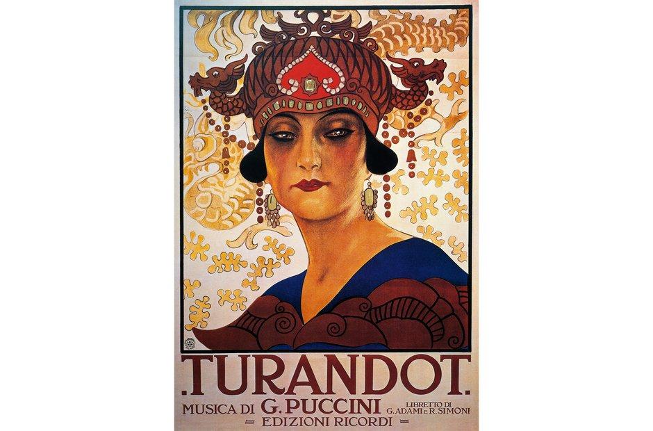 Vintage opera poster Turandot