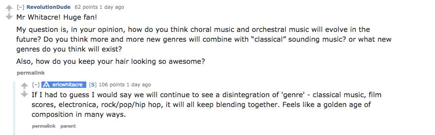 Eric Whitacre's AMA