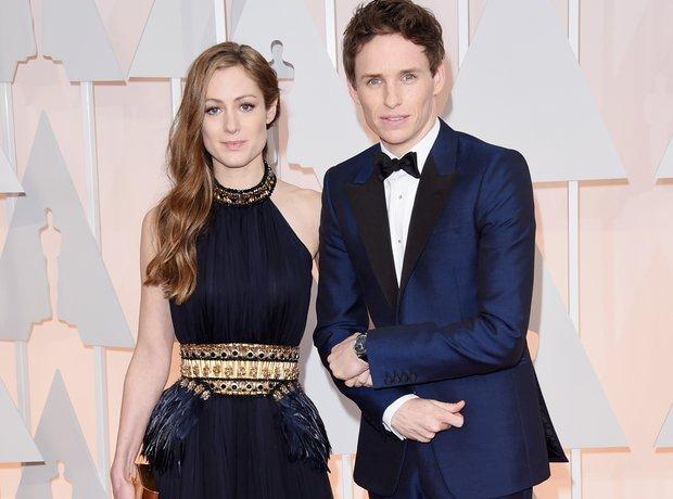 Eddie Redmayne and Hannah Bagshawe at the Oscars