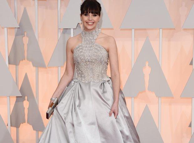 Felicity Jones at the Oscars 2015