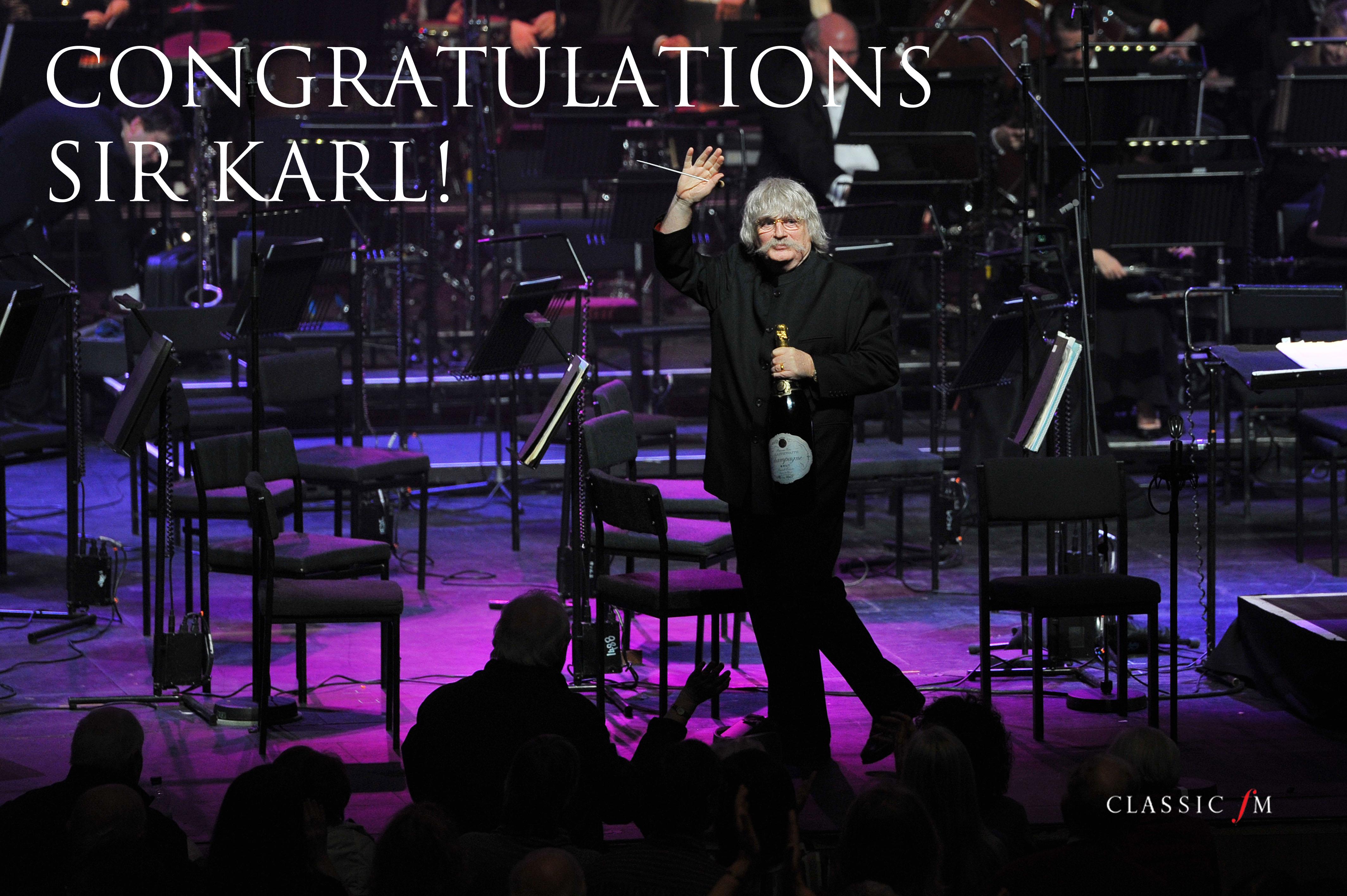 Congratulations Karl Jenkins