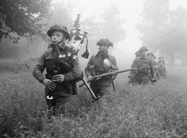 Operation Epsom Normandy bagpipes