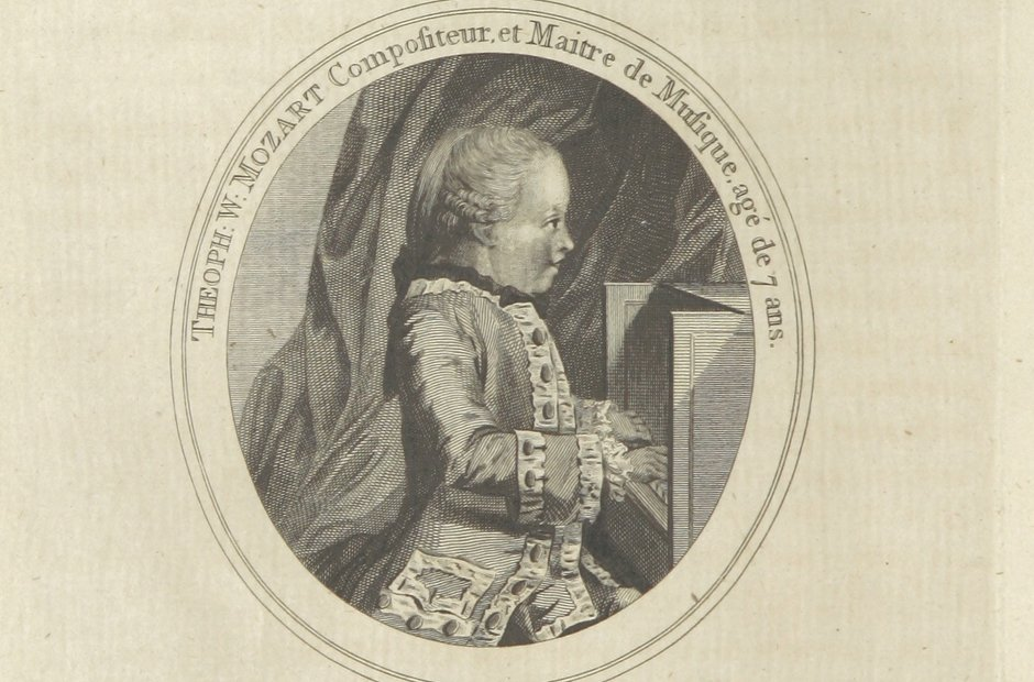 British Library archive Mozart child