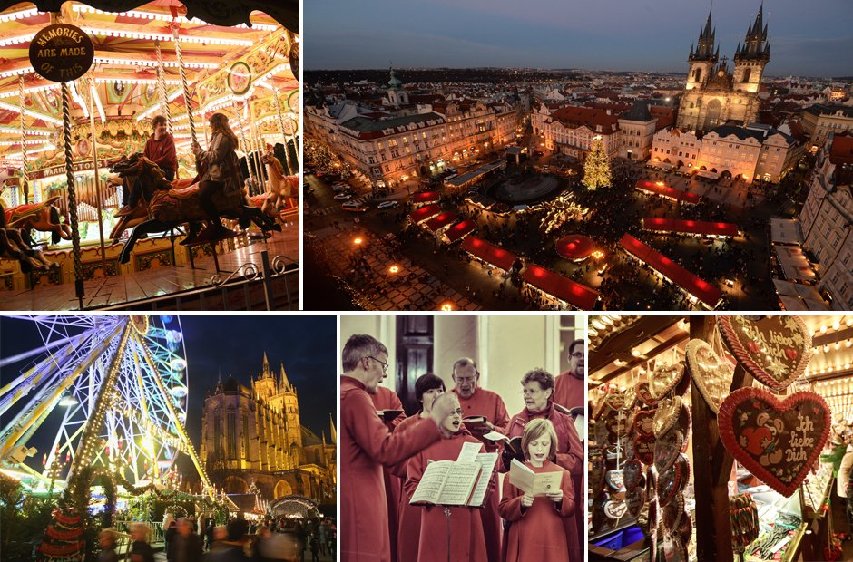 Christmas markets collage