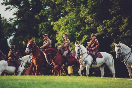 Cavalry at the Battle Proms