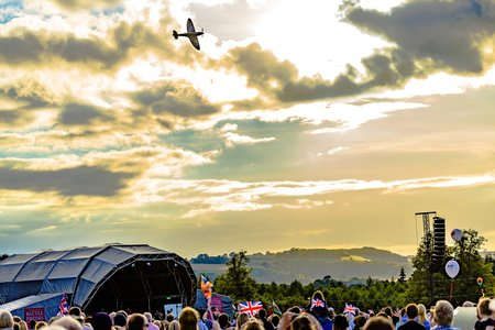 Spitfire at the Battle Proms
