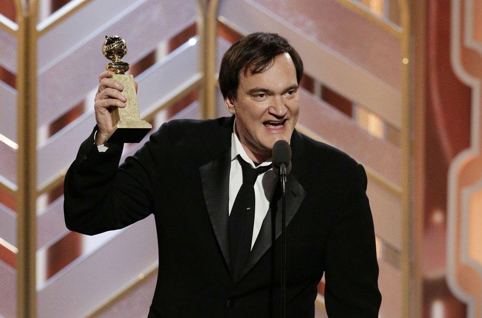Quentin Tarantino at the Golden Globes 2016