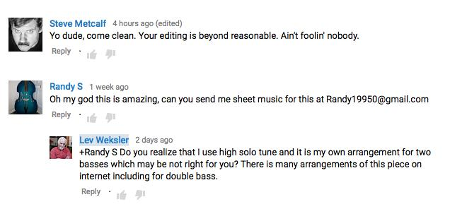 youtube double bass fake